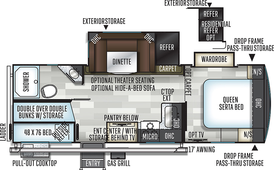 Flagstaff 26BWS Superlite floorplan